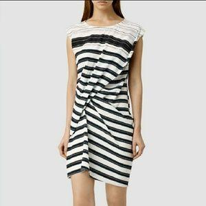 ALL SAINTS CLEO 100% SILK ITALIAN HITCH NWOT DRESS